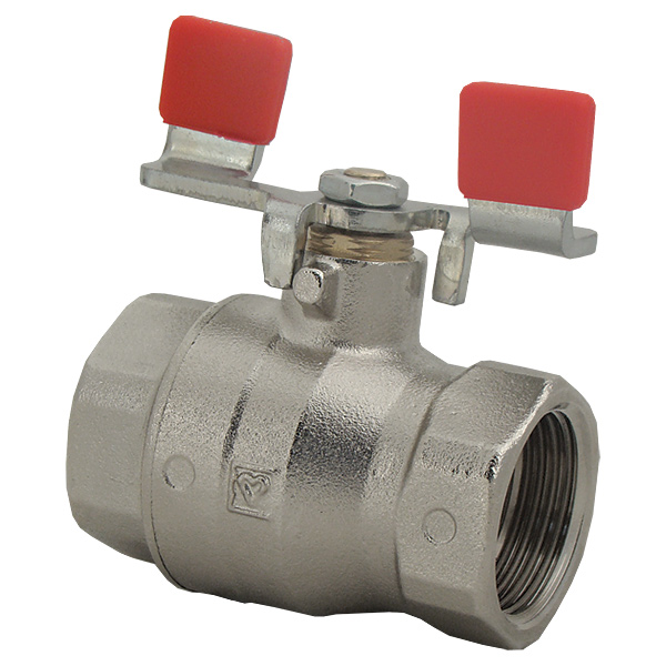 Ball valve with T-handle (sheet steel galvanised), PN 25