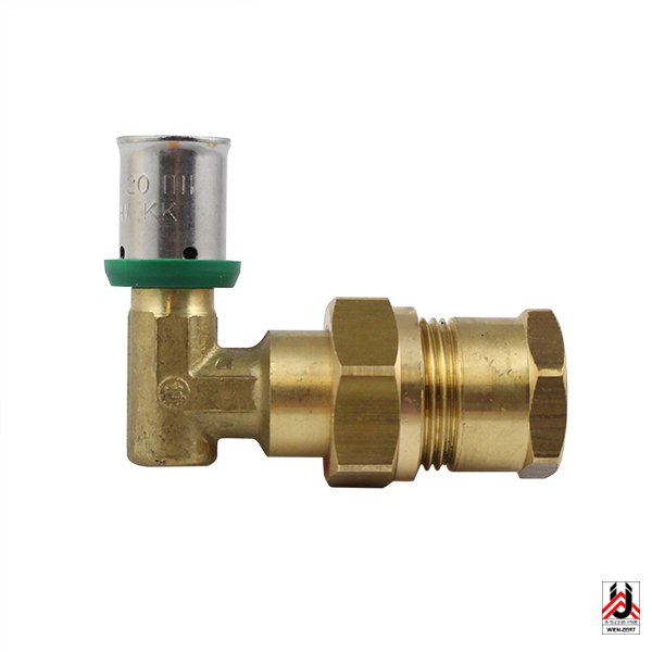 HERZ-PIPEFIX – Angle screw connection with FT