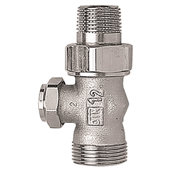 HERZ-RL-4 single shutoff valve - straight model for two-pipe operation