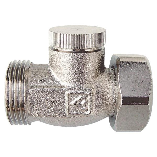 HERZ-RL-1 single shutoff valve - straight model for two-pipe operation