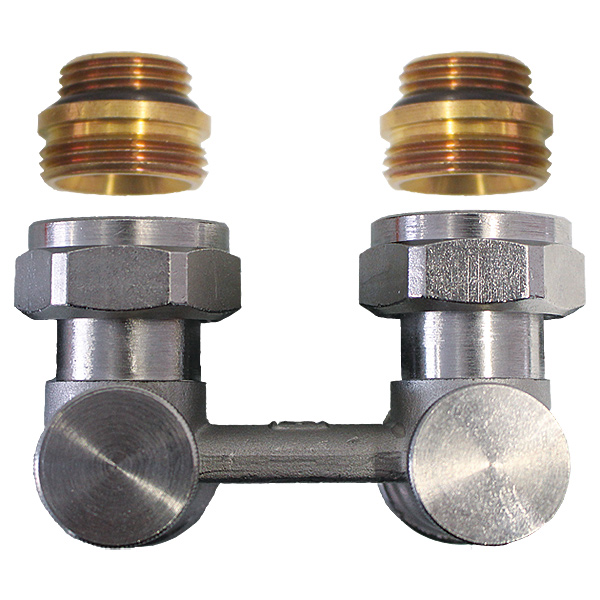 Two-pipe connection set - angle model