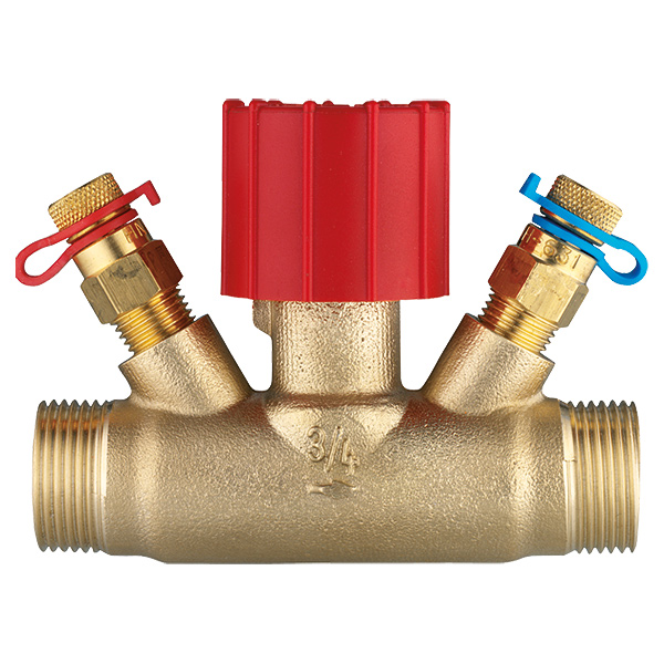 Regulating valve, straight body with  test points G (male thread)