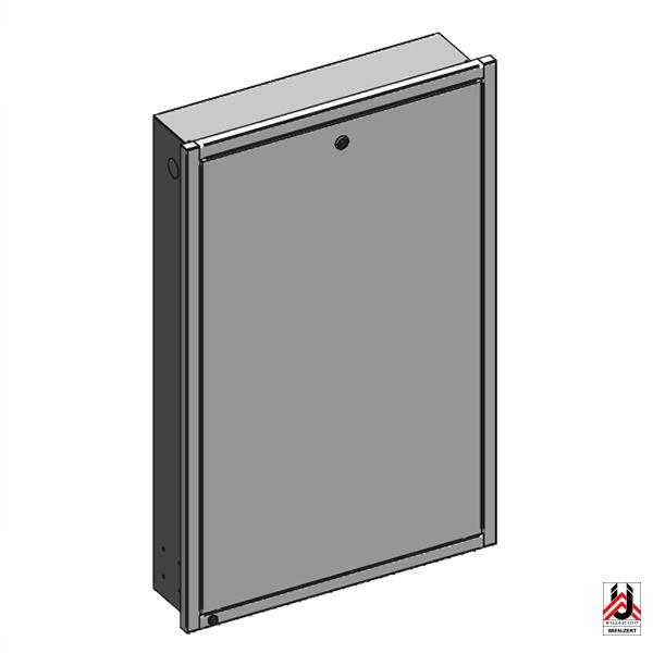 Unterputzkasten für HERZ Wohnungsübergabestationen mit Frontrahmen, Fronttüre