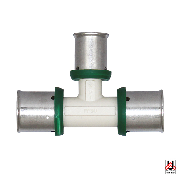 Pressfittings PPSU – T-piece, middle branch reduced