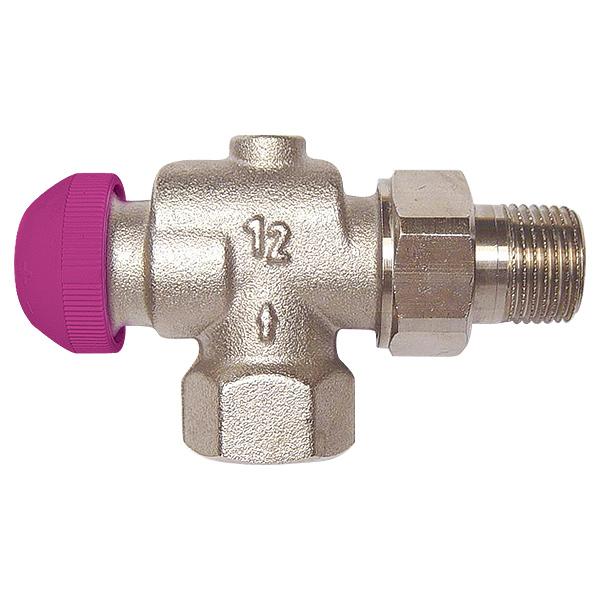 HERZ-TS-99-FV thermostatic valve - reverse angle model