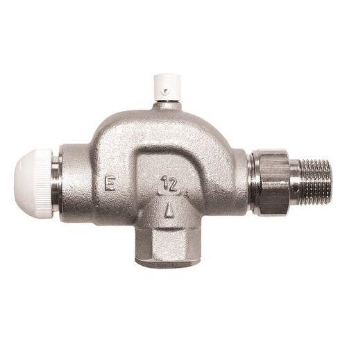 Термостатический клапан ГЕРЦ TS-E, угловой осевой специальный, с воздушным клапаном, размер 1/2