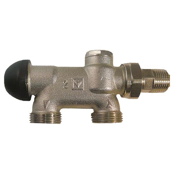 HERZ-VTA-50-Vierwegeventile für Zweirohranlagen mit voreinstellbarem Thermostatoberteil