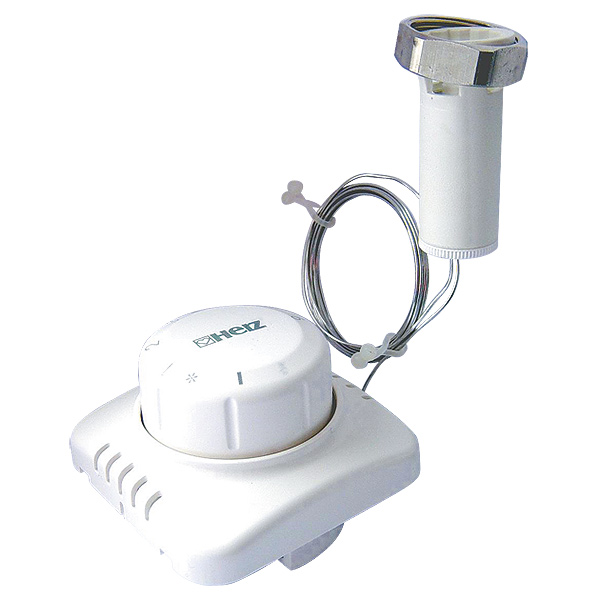 Головка термостатическая ГЕРЦ с дистанционным регулированием для скрытого монтажа, подходит ко всем термостатическим клапнам ГЕРЦ