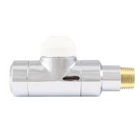 HERZ-TS-90-Thermostatventil DE LUXE, Durchgangsform - Chrom