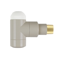 HERZ-TS-90-Thermostatventil DE LUXE Eckform - Farbe Pergamon