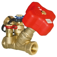 HERZ commissioning valve with integral orifice and capillary connection