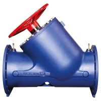 STRÖMAX-GF mit linearer Kennlinie. PN16/PN25 STRÖMAX-GF, Strangregulierventil für Differenzdruckmessung in Flanschausführung, Schrägsitzform mit verlängerten Messventilen