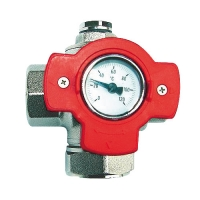 Multifunction Ball Valve with Thermometer