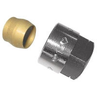 Compression adapter, metallic seal