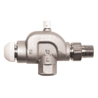 HERZ-TS-E thermostatic valve - reverse angle model, with air vent