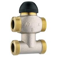 Thermostatisches Dreiwegeventil für Misch- und Verteilbetrieb, 4 Anschlüsse