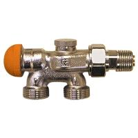 HERZ-VTA-40-Vierwegeventil für Zweirohranlagen mit voreinstellbarem Thermostatoberteil