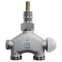 HERZ-VUA-50-Vierwegeventile für Zweirohranlagen mit voreinstellbarem Thermostatoberteil