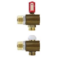 HERZ-Einzelabgangsset mit Flowmeter-Reguliereinsatz