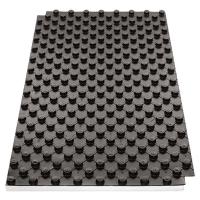 Noppenplatte mit Dämmung, schwarz