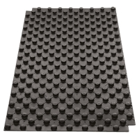 Studded Panel, black polystyrene