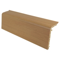 Plastic skirting board system