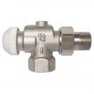 HERZ-TS-90-KV-Thermostatventil Eckform spezial 3/4 - grün