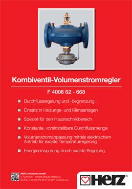 Kombiventil- Volumenstromregler