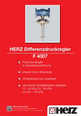 Differenzdruckregler F-4007